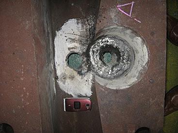 機械部品修理|穴部分の溶接・再切削・サイズ調整