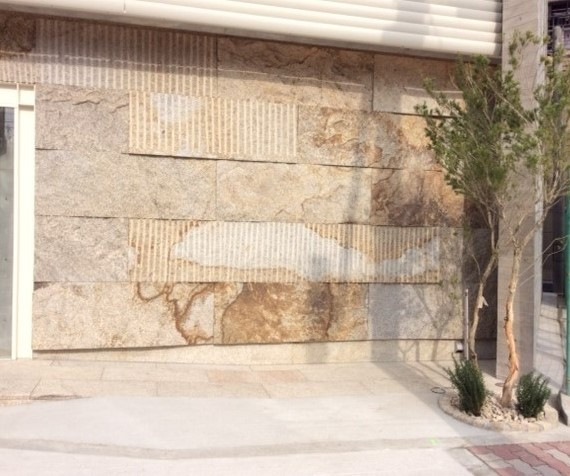 壁面石貼り画像