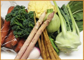 イタリアからの輸入野菜