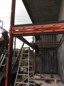 2階建てコンテナ工事 91