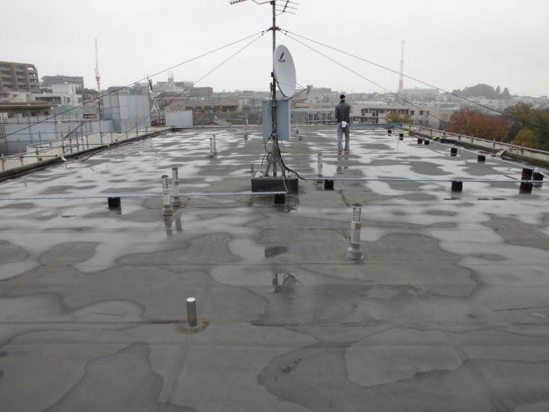 川崎市高津区Dマンション屋上防水工事