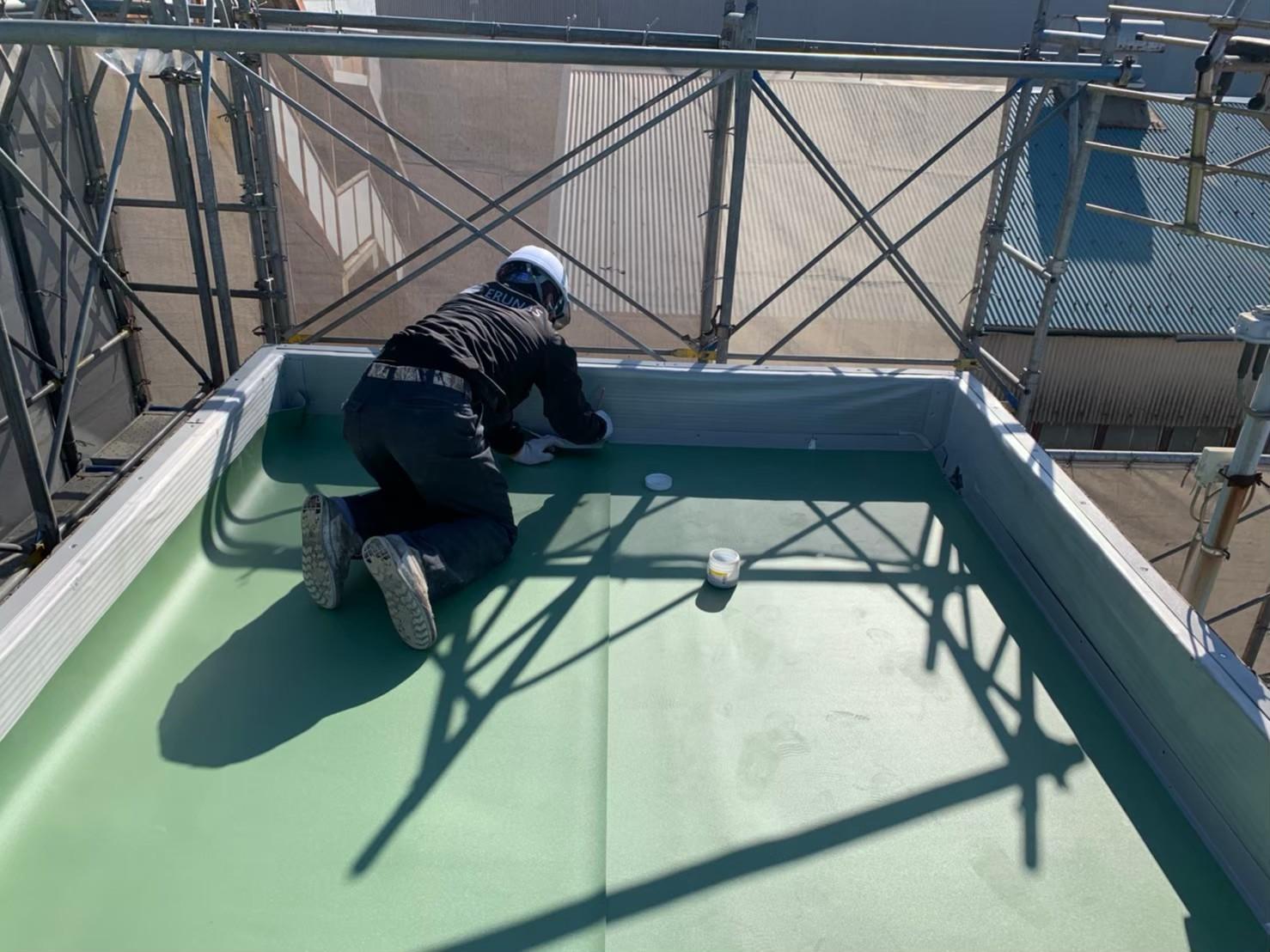 神奈川県川崎市工場・塩ビシート防水工事画像