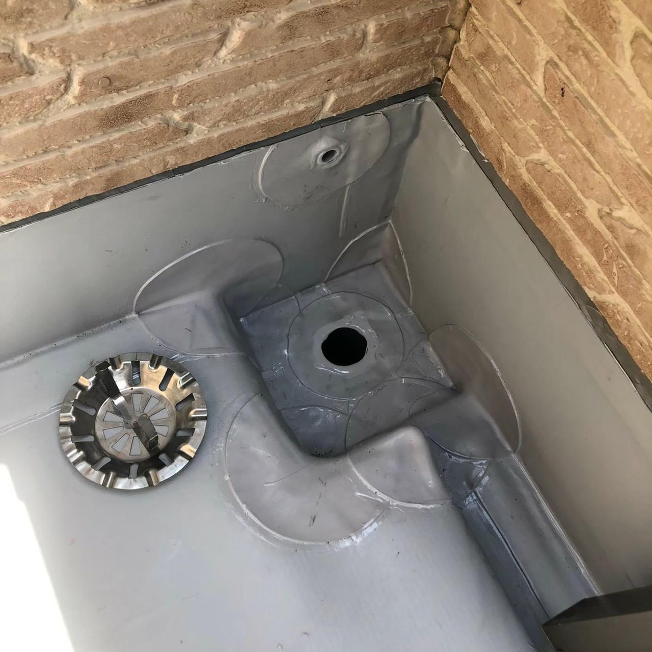 バルコニー 塩ビシート防水工事画像
