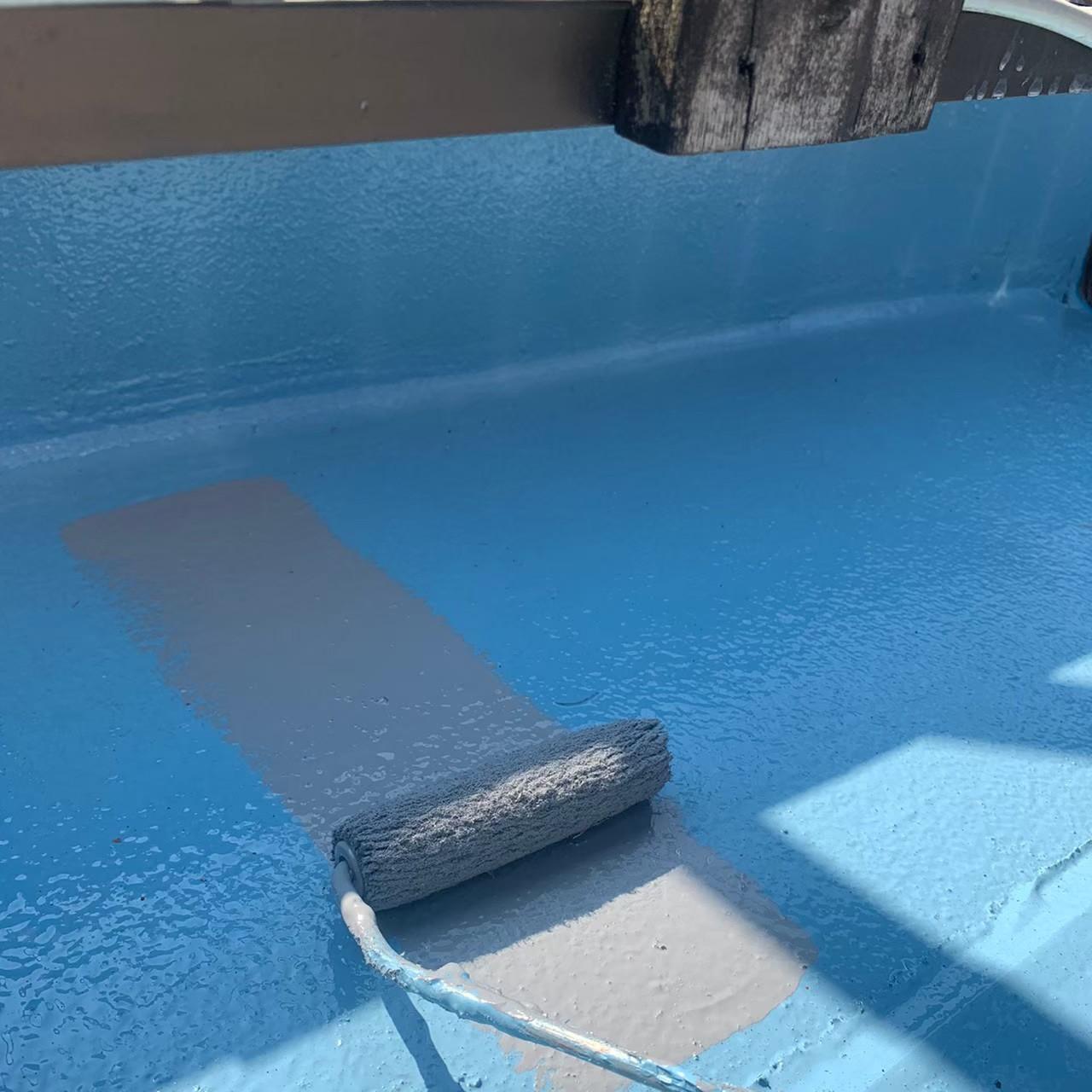 東京都墨田区 屋上塩ビシート防水 ウレタン塗膜防水画像