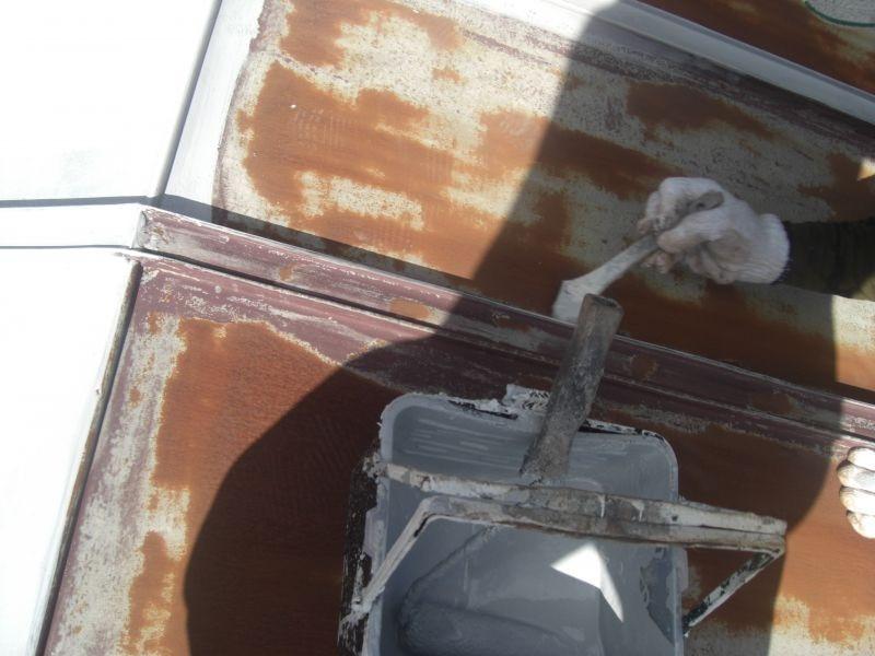 美祢市O様所有建物屋根塗装
