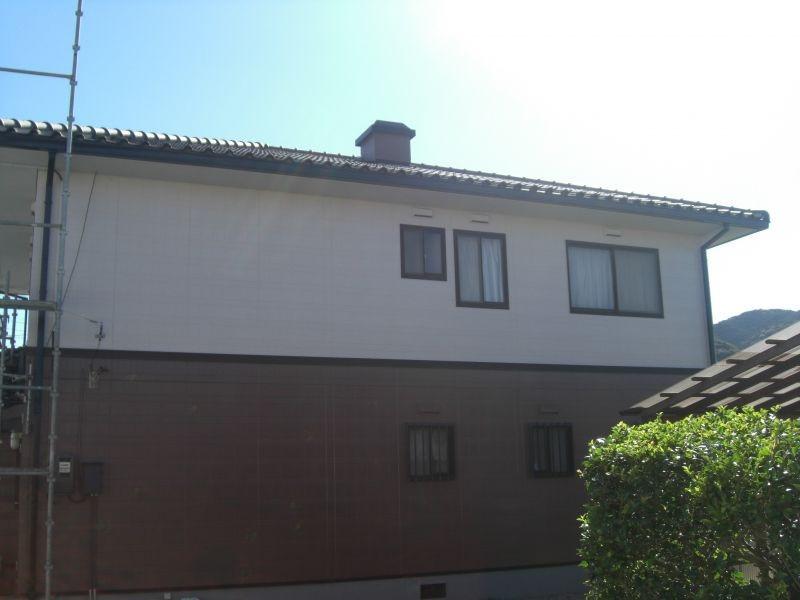 萩市N様邸外壁無機フッ素塗装