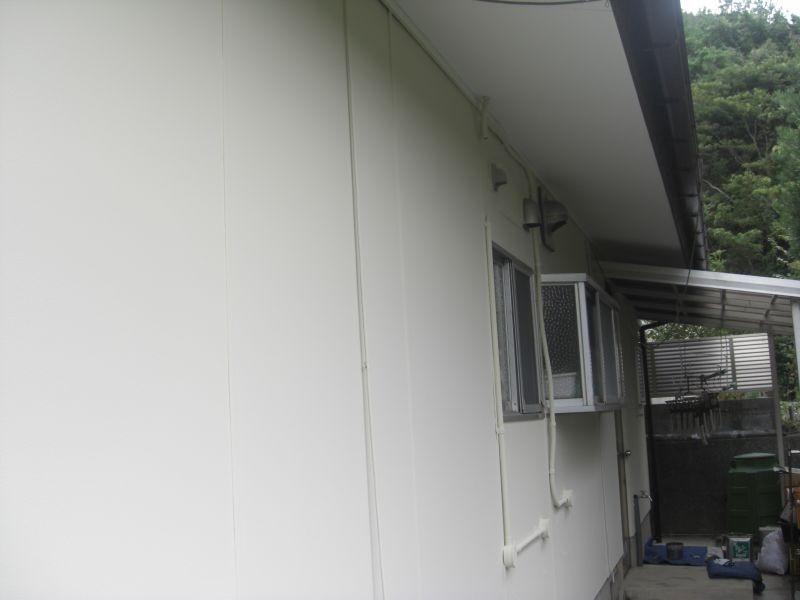 長門市Y様邸外壁ガイナ塗装
