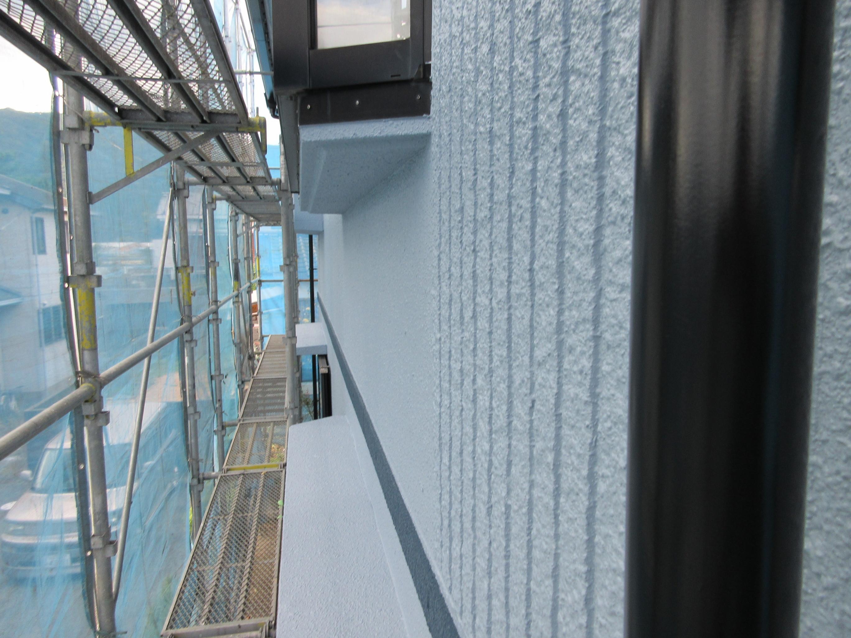 萩市Ⅰ様邸外壁塗装ベランダ張替え工事