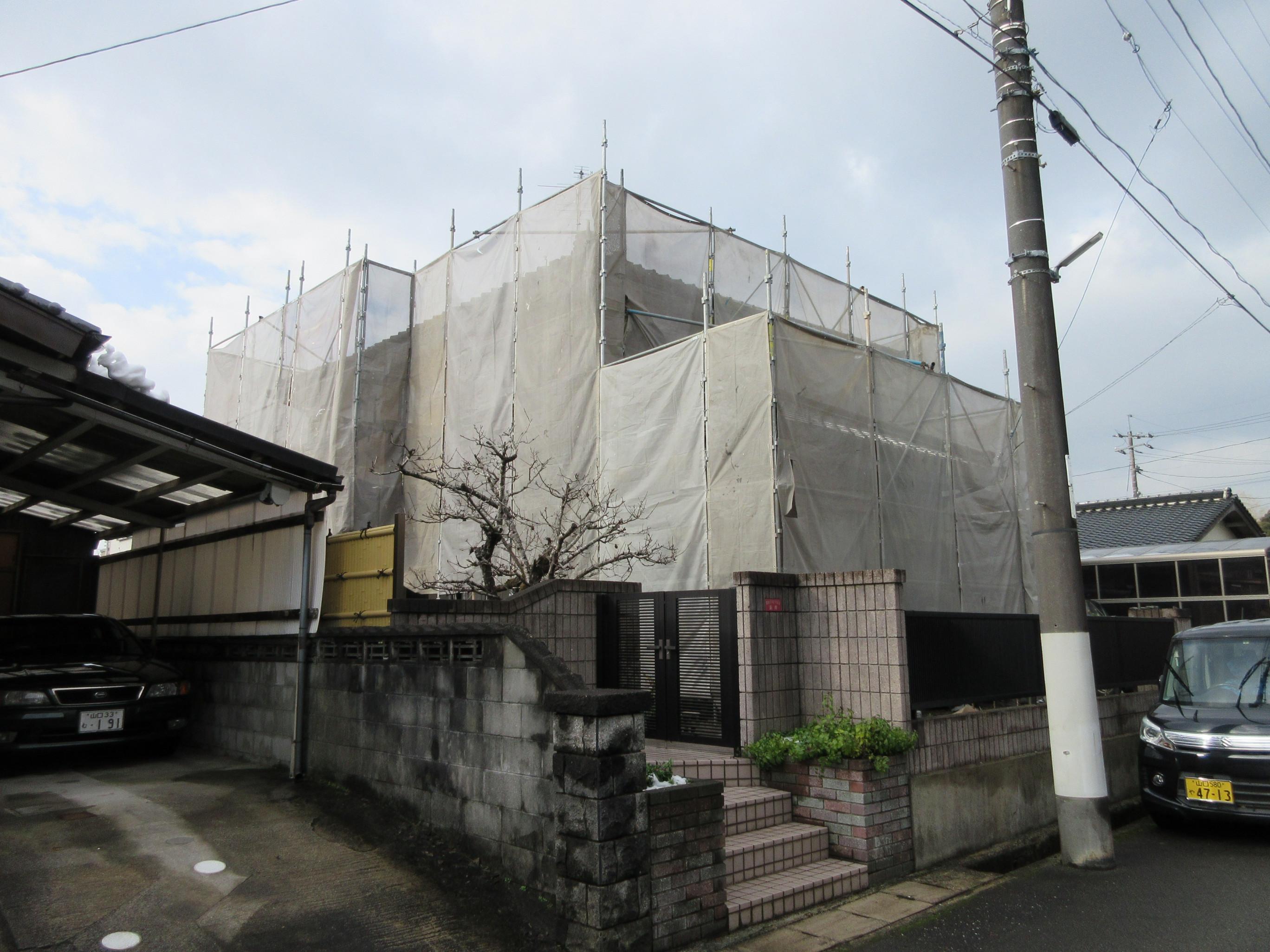 山陽小野田市N様邸外壁フッ素塗装