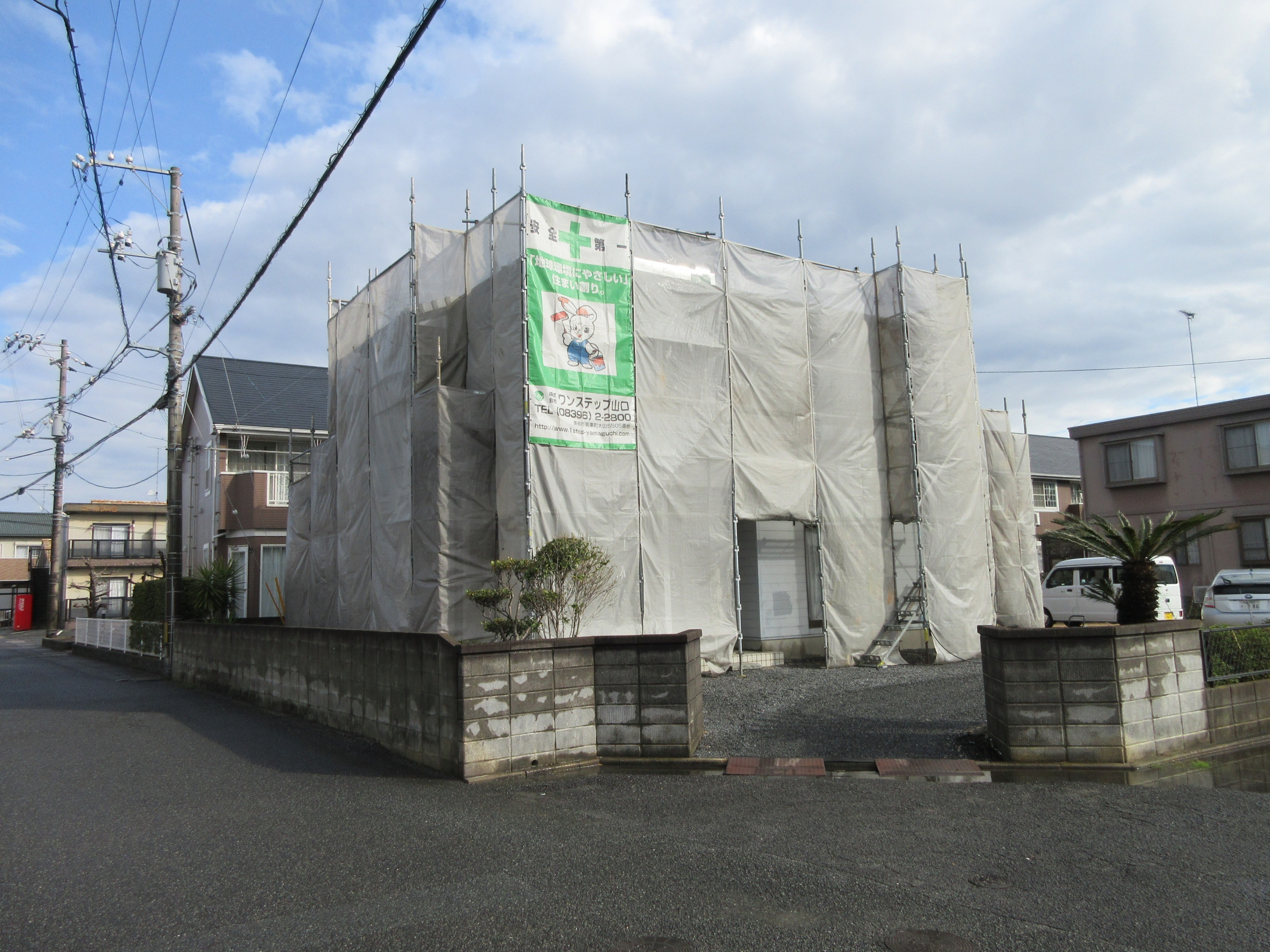 宇部市Y様邸外壁フッ素塗装