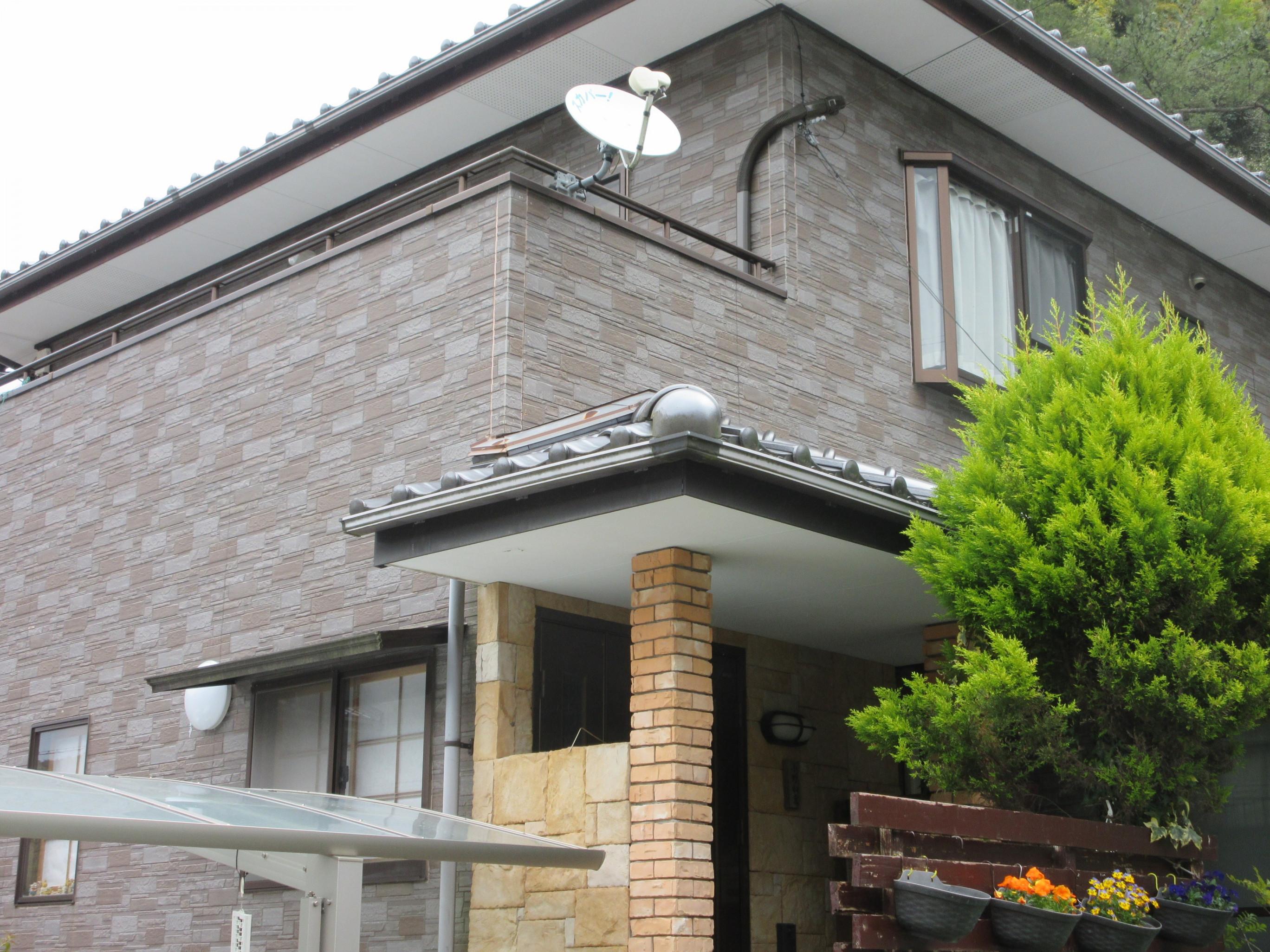 萩市0様邸外壁フッ素塗装