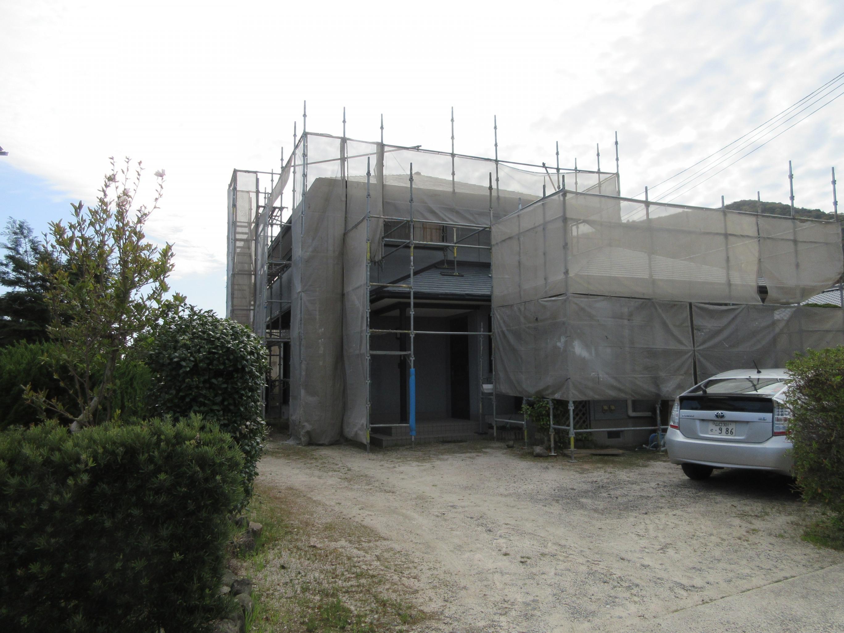 防府市S様邸屋根外壁シリコン塗装