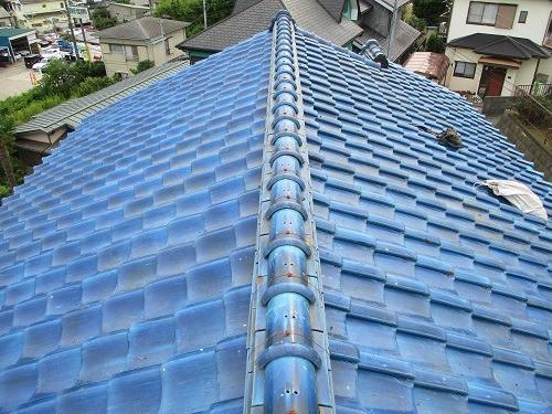 横須賀市 和瓦棟取り直し工事