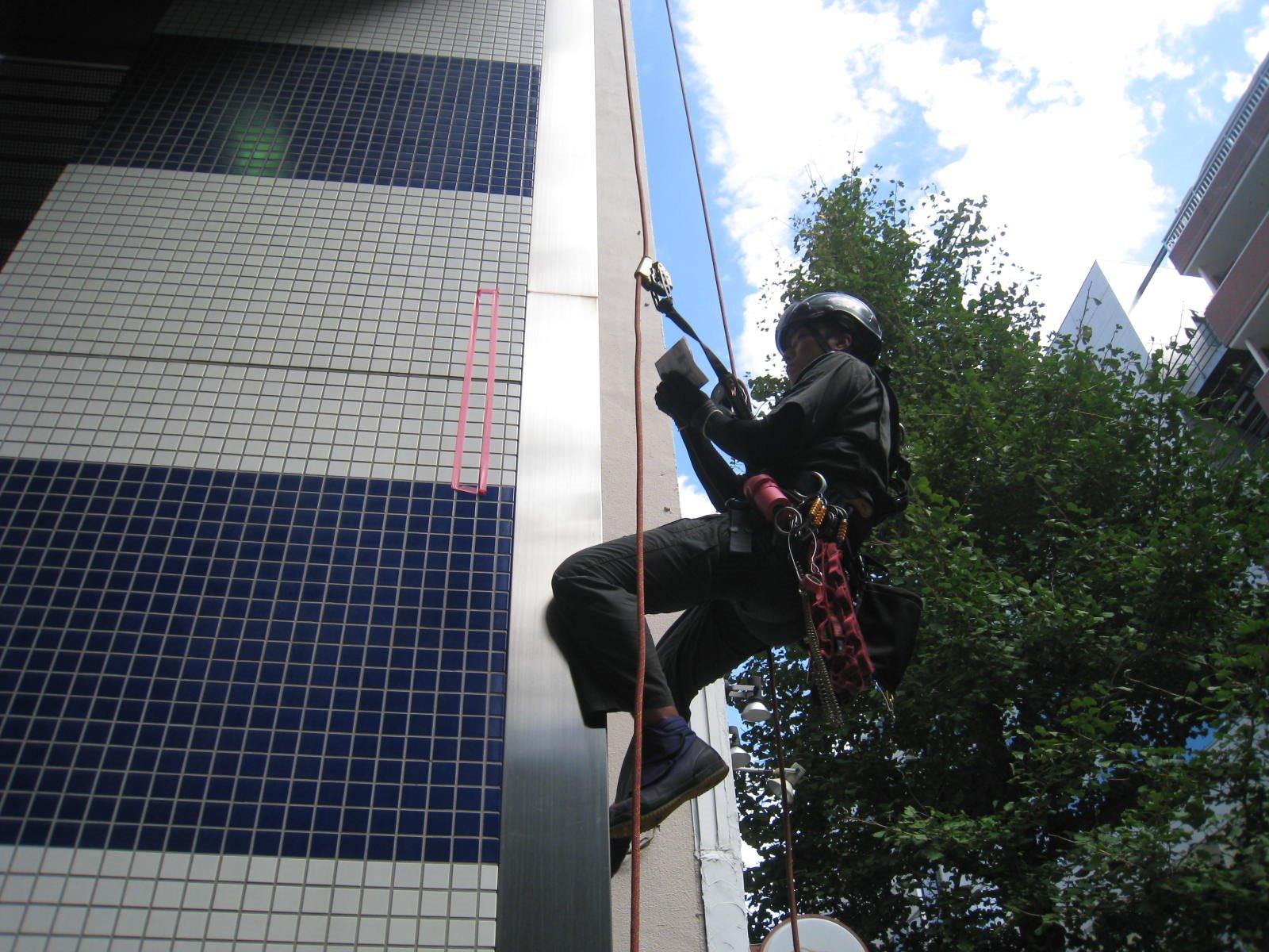 新宿区/オフィスビル  ◆外壁打診調査画像