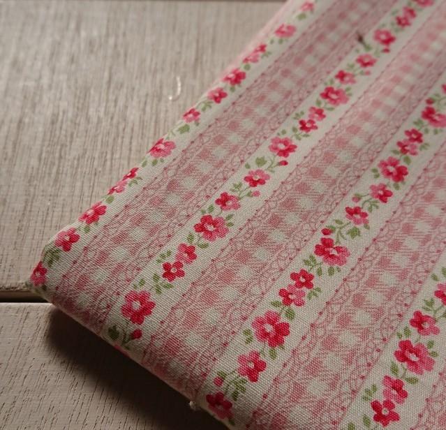 お花ボーダー(ピンク)イメージ