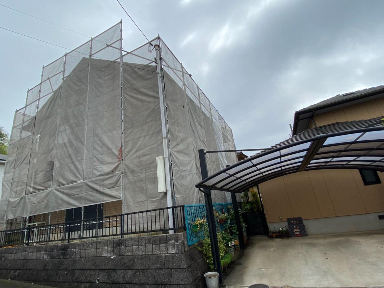 岡山県笠岡市塗装足場工事