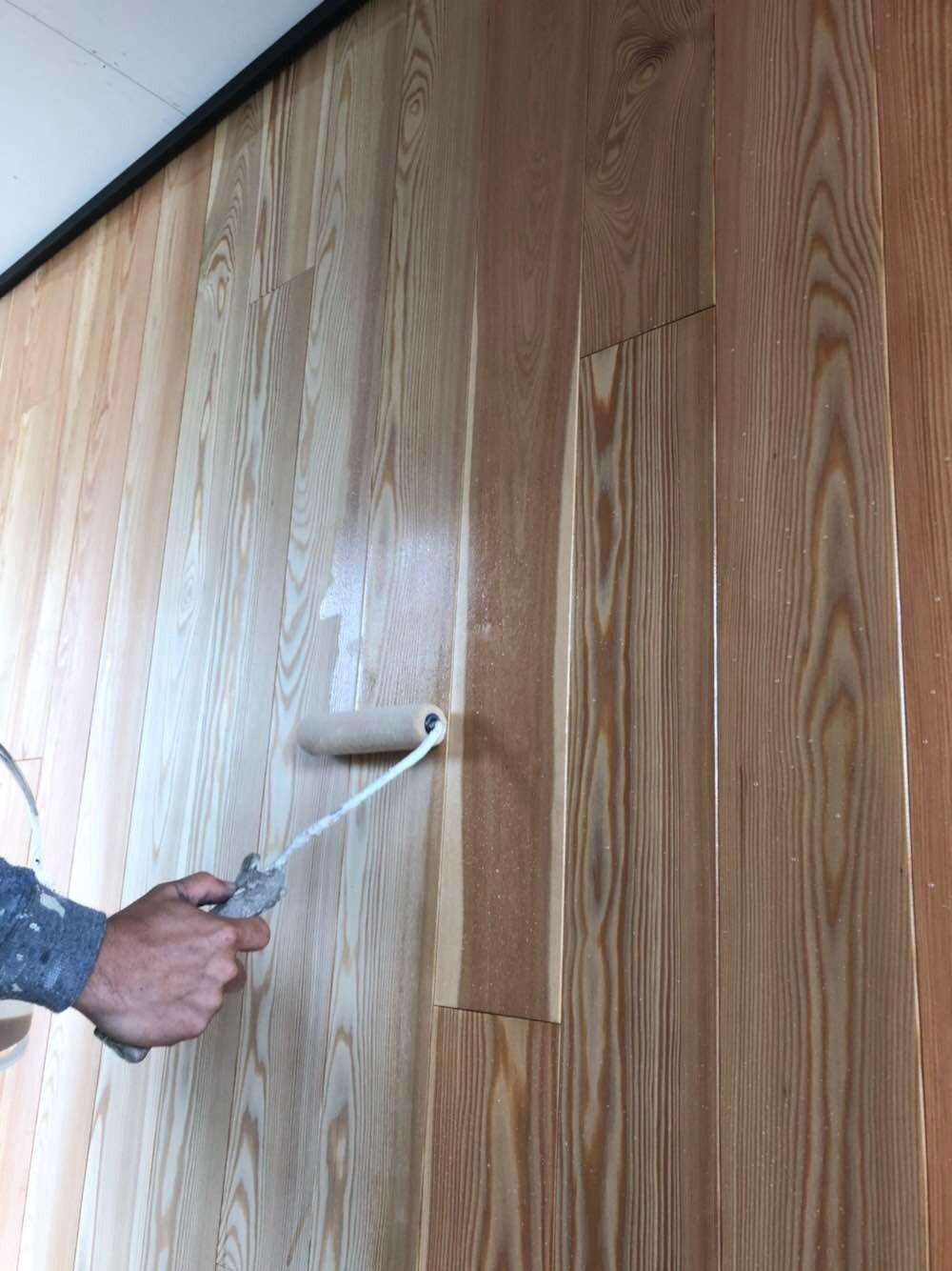新築木部保護塗装
