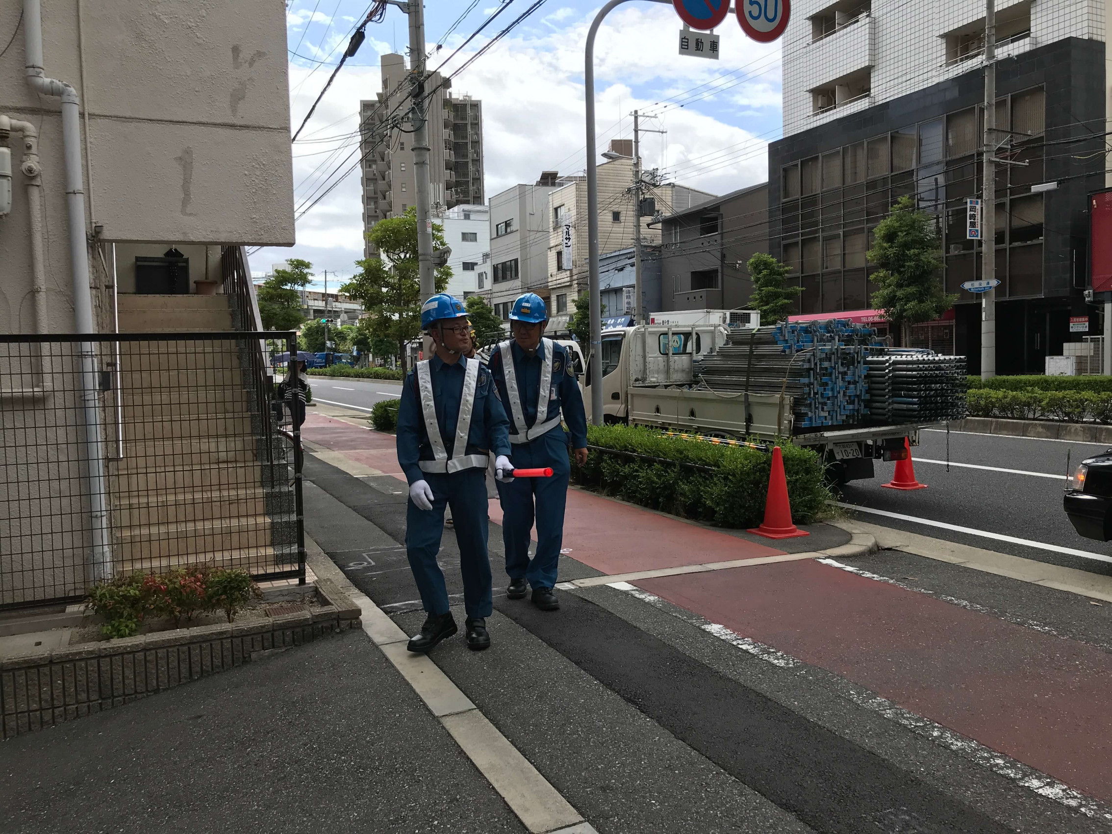 阿倍野区で足場工事