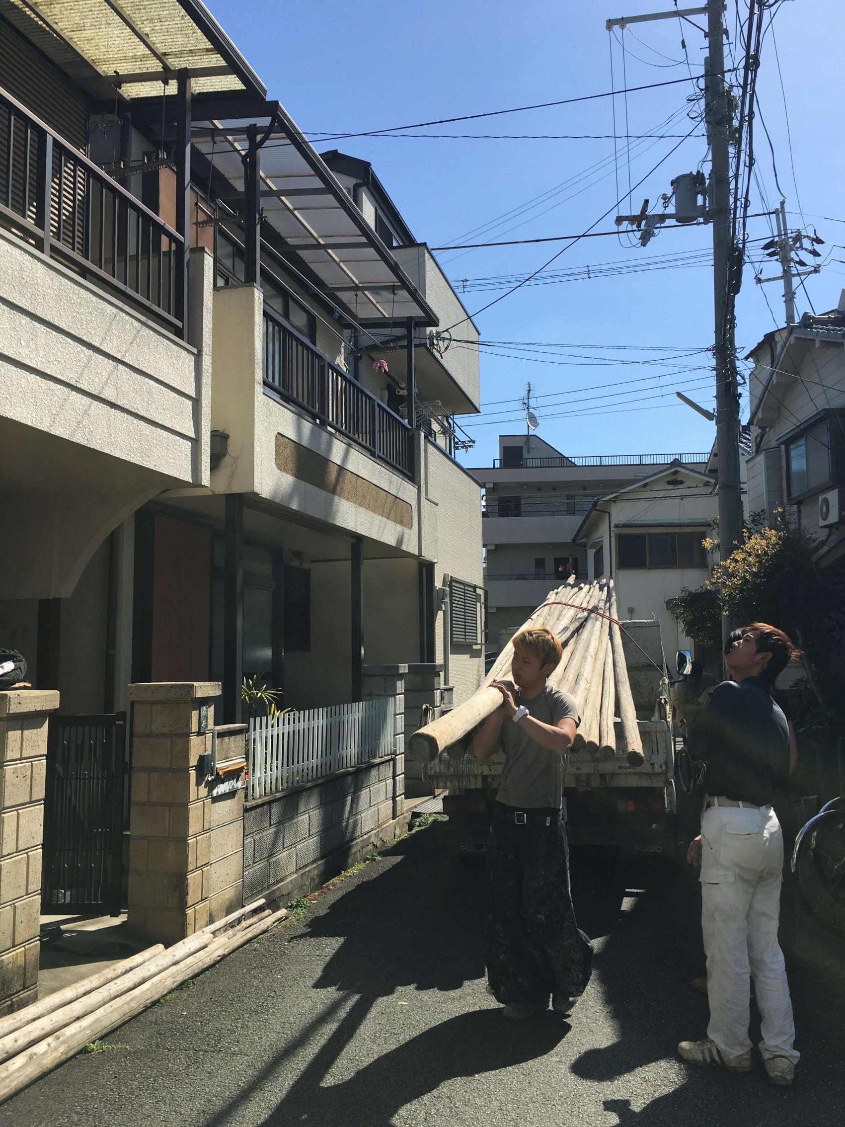尼崎市で解体工事1