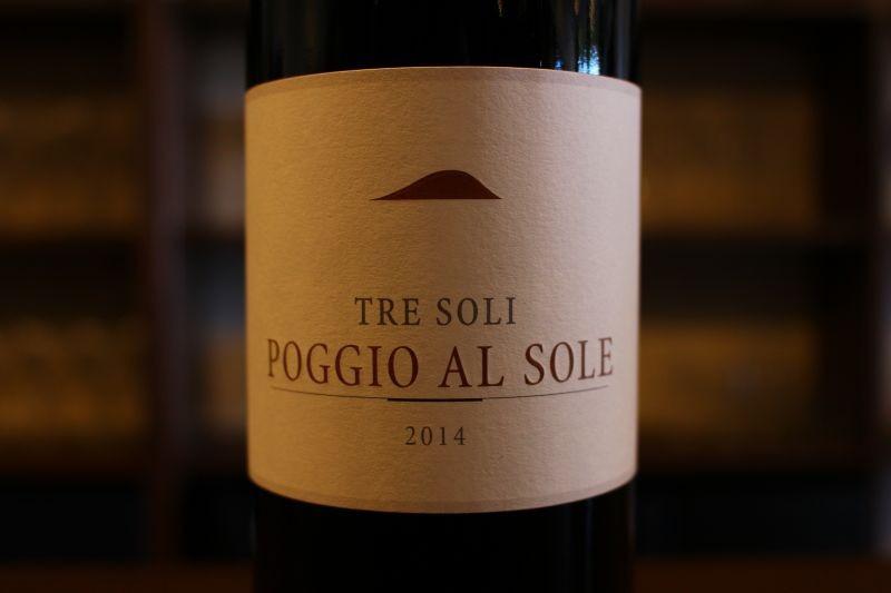 トレ・ソーリ 2014  ポッジョ・アル・ソレ イタリア/トスカーナ/赤/ サンジョべーゼ、メルロ カベルネ/ミディアムボディ この価格帯では贅沢な樽の使い方、抜栓直後からのひらき具合もちょうどいいです。キャンティのトップ醸造家が手掛けるハイコスパワインこれで2000円台は買いです