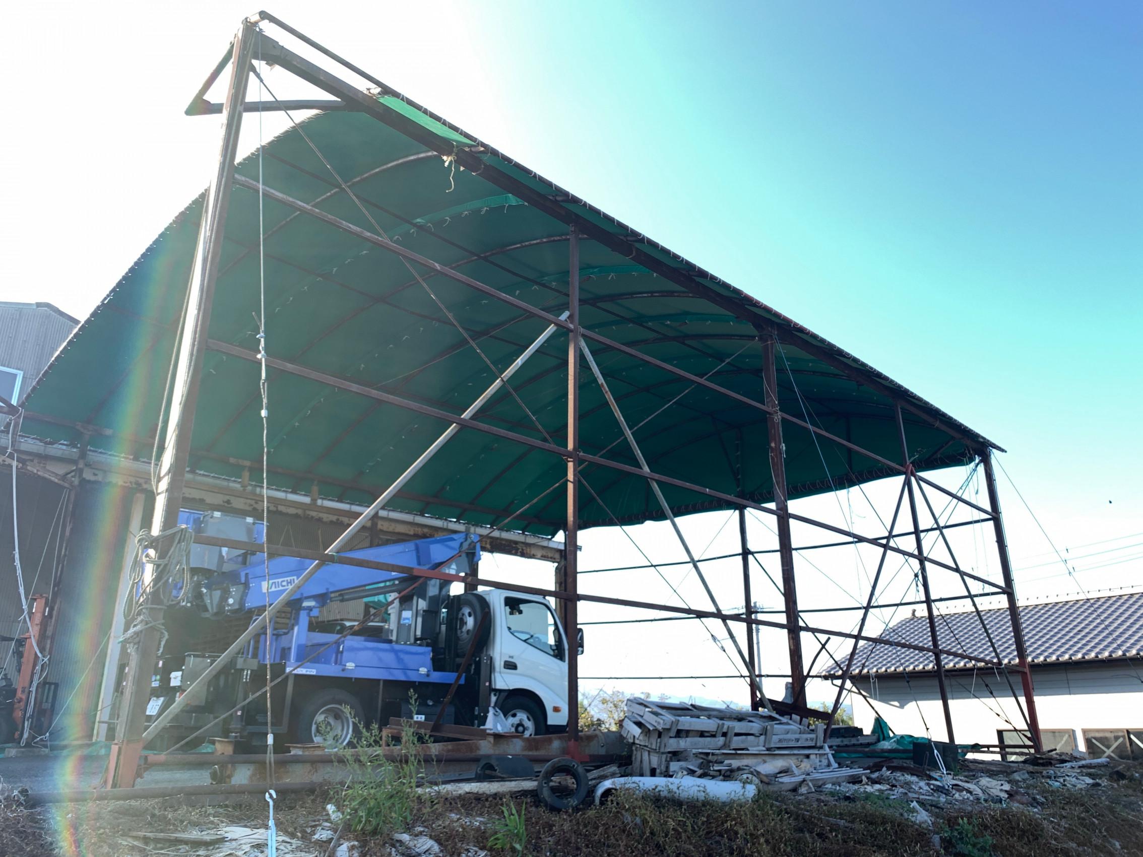 佐賀県にて テント上屋 張り替えさせて頂きました!