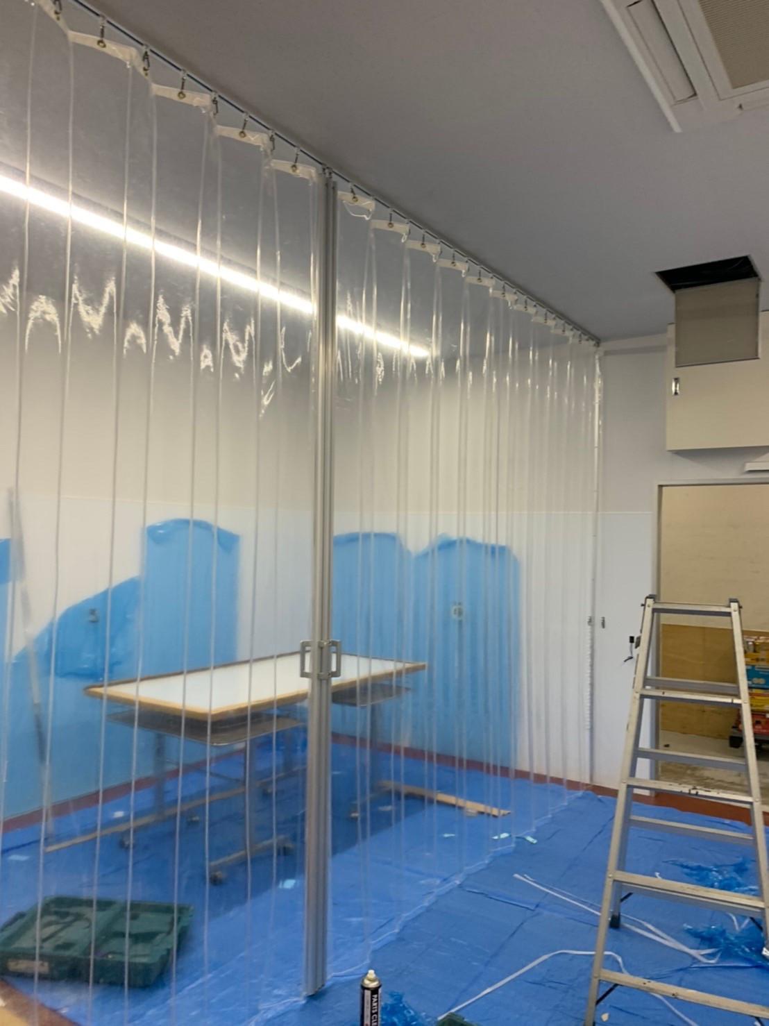 熊本県にて 間仕切りカーテン工事 させて頂きました。