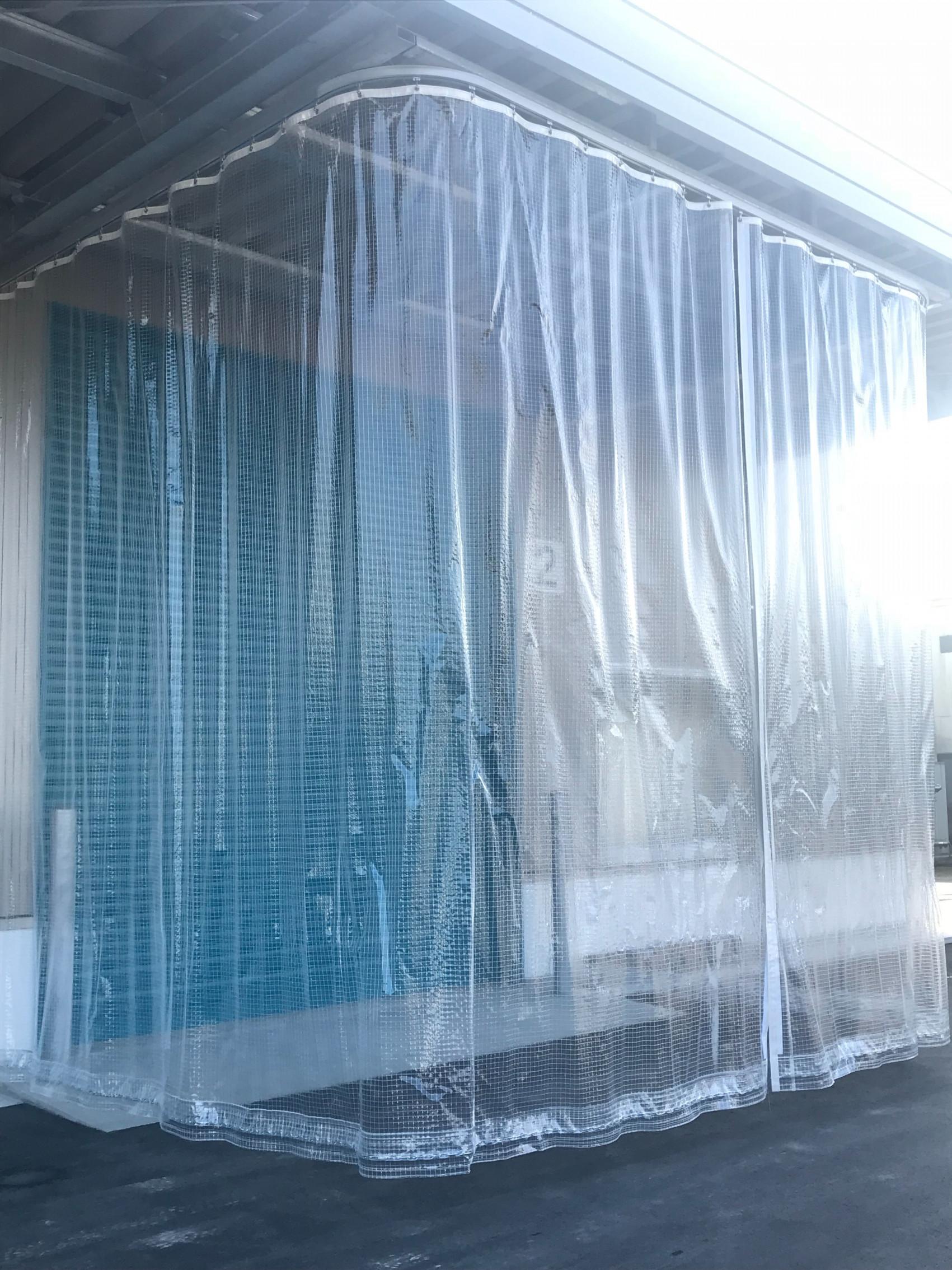 鹿児島県にて テントカーテン 施工させて頂きました。