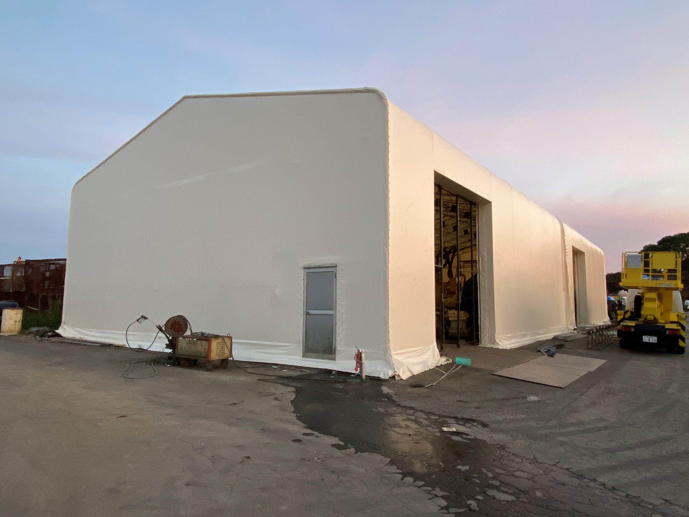 大分県にて テント倉庫 張替させて頂きました。