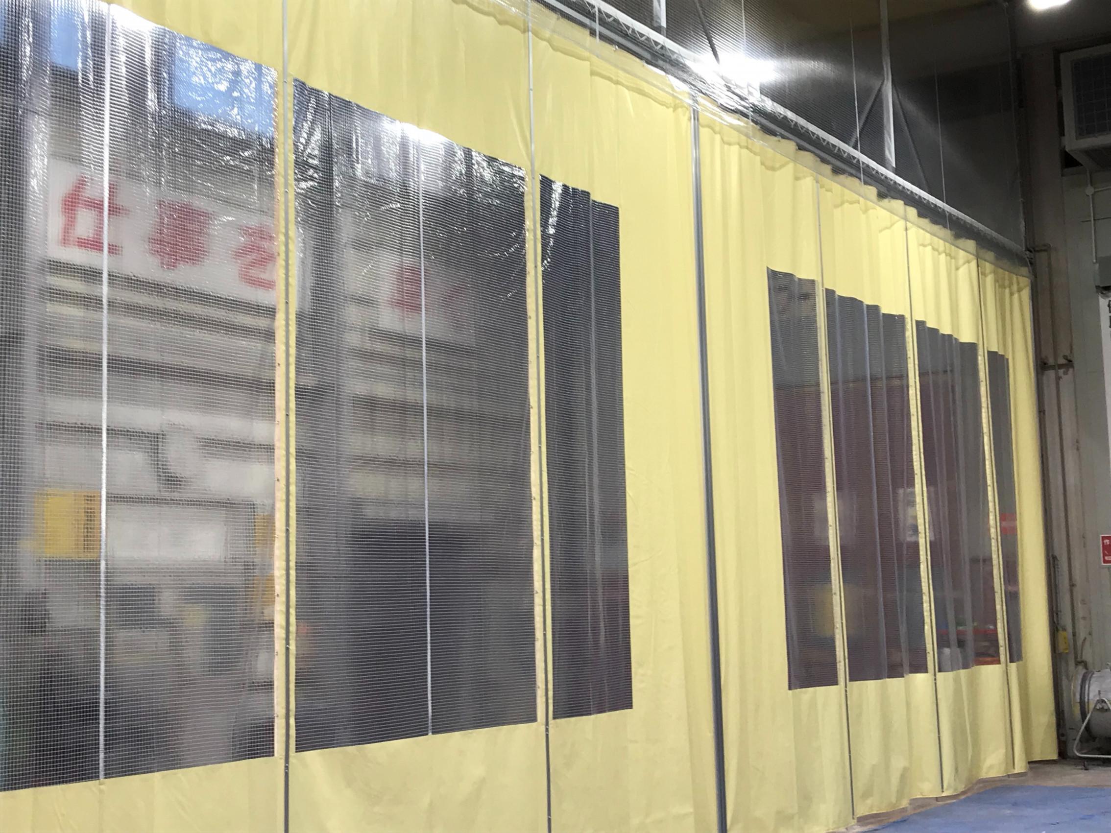 大分県にて テントカーテン 施工させて頂きました。