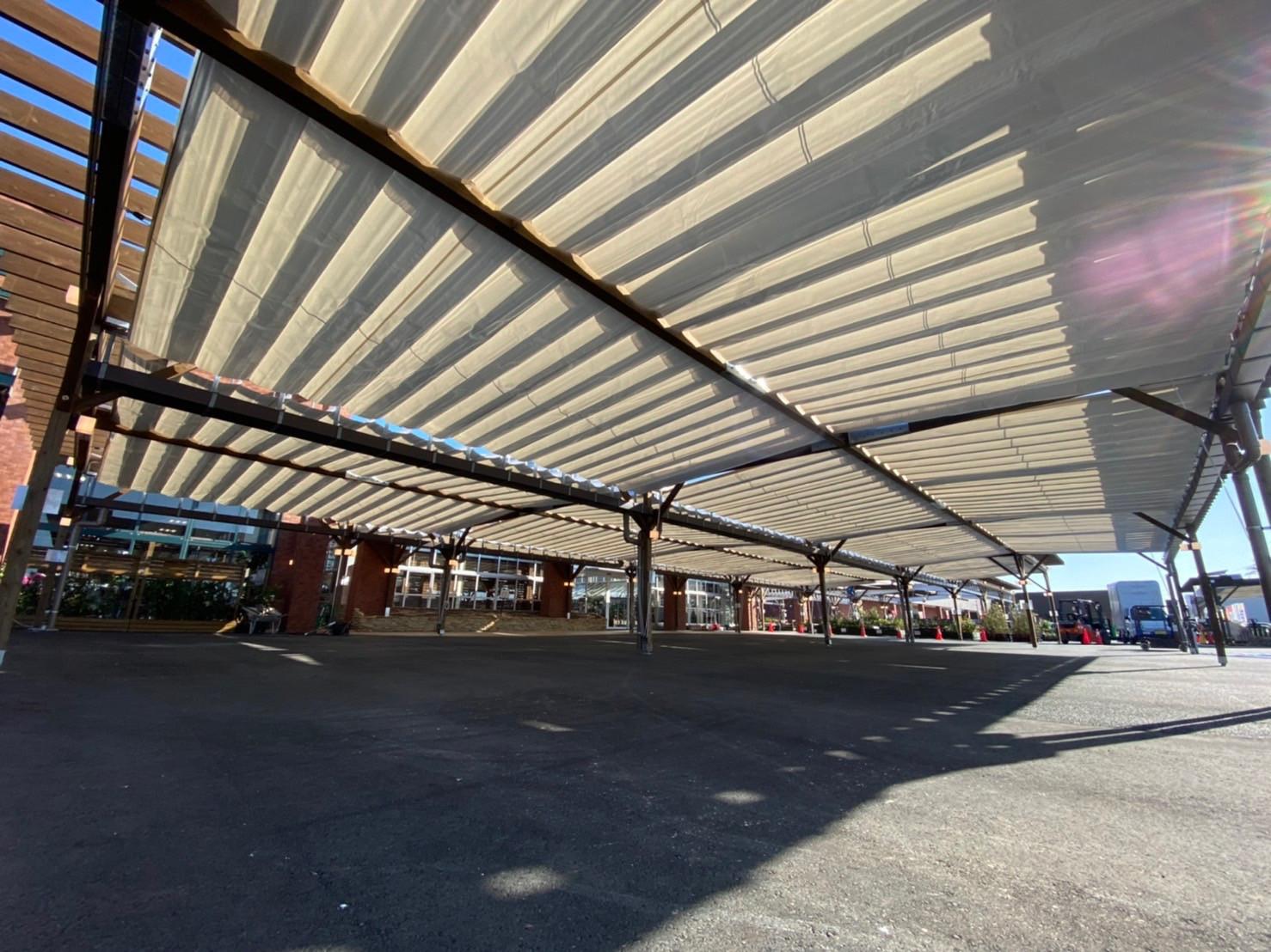 熊本県にて 開閉式テント(ソラカゼ) 施工させて頂きました。