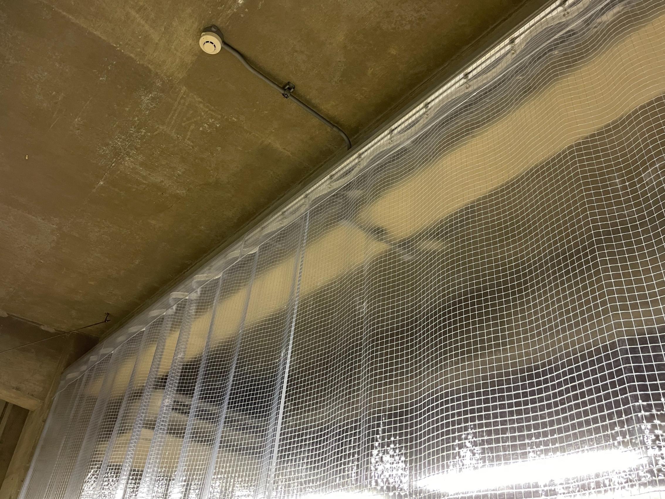 福岡県 北九州市 にて 間仕切りカーテン 施工させて頂きました