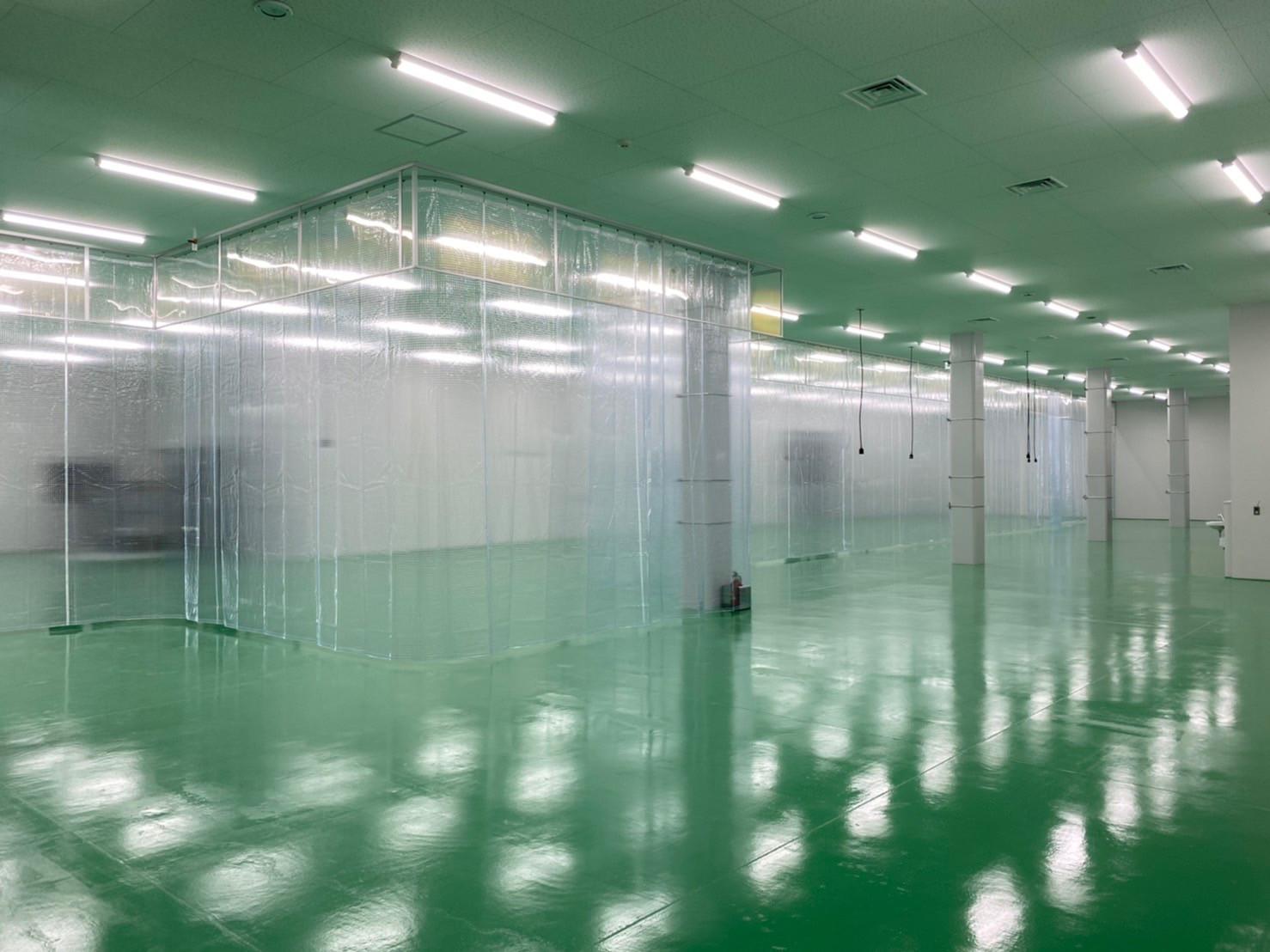 熊本県にて 工場内 テント間仕切り 施工させて頂きました。