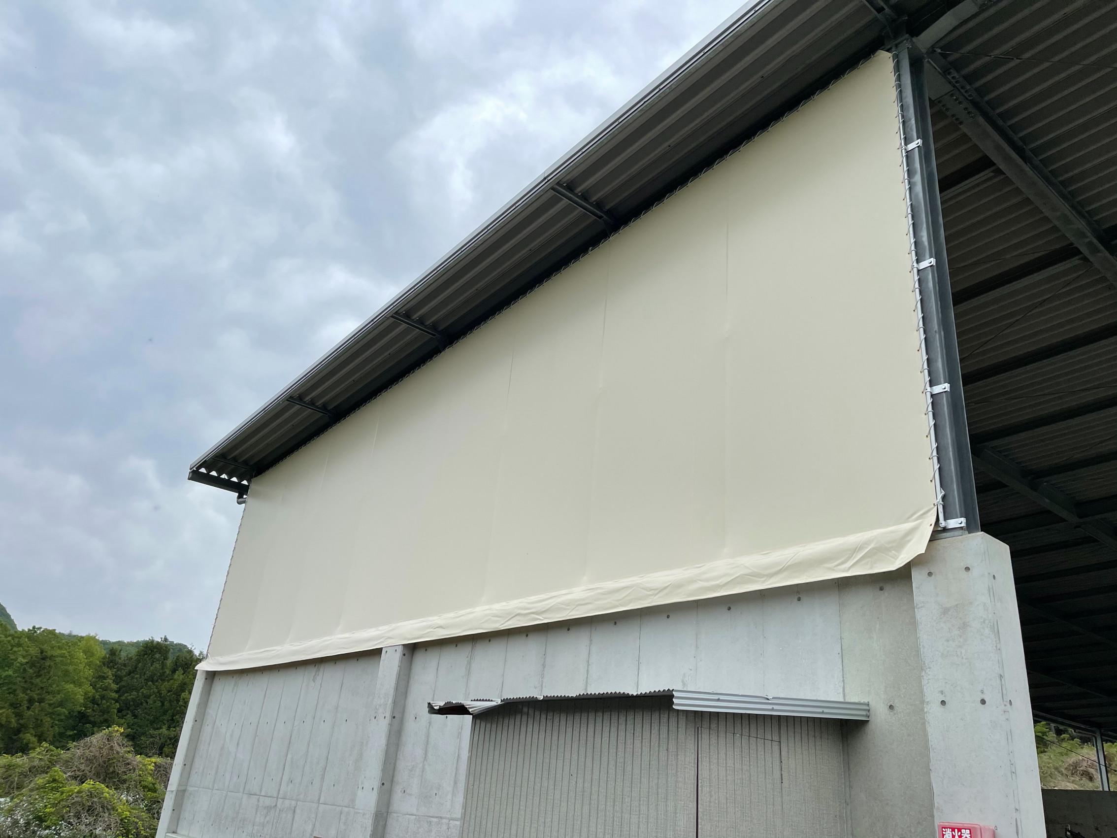 大分県にて 壁 テント 施工させて頂きました