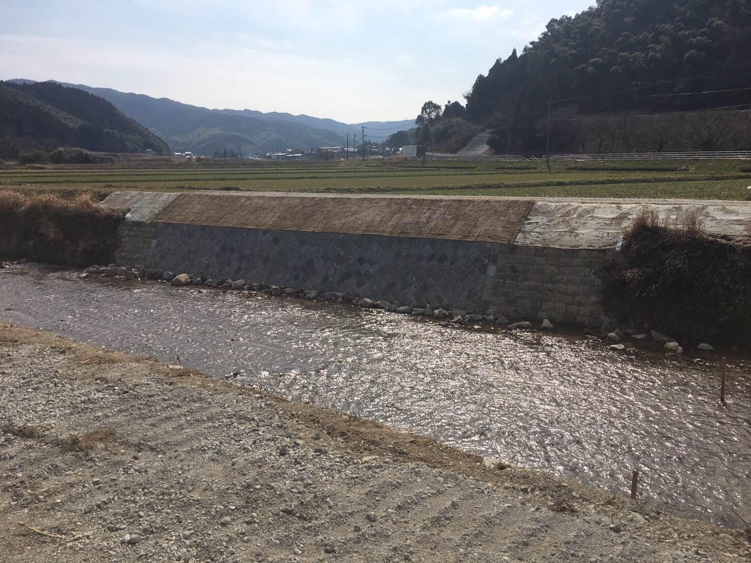 穂波川災害復旧工事施工前イメージ