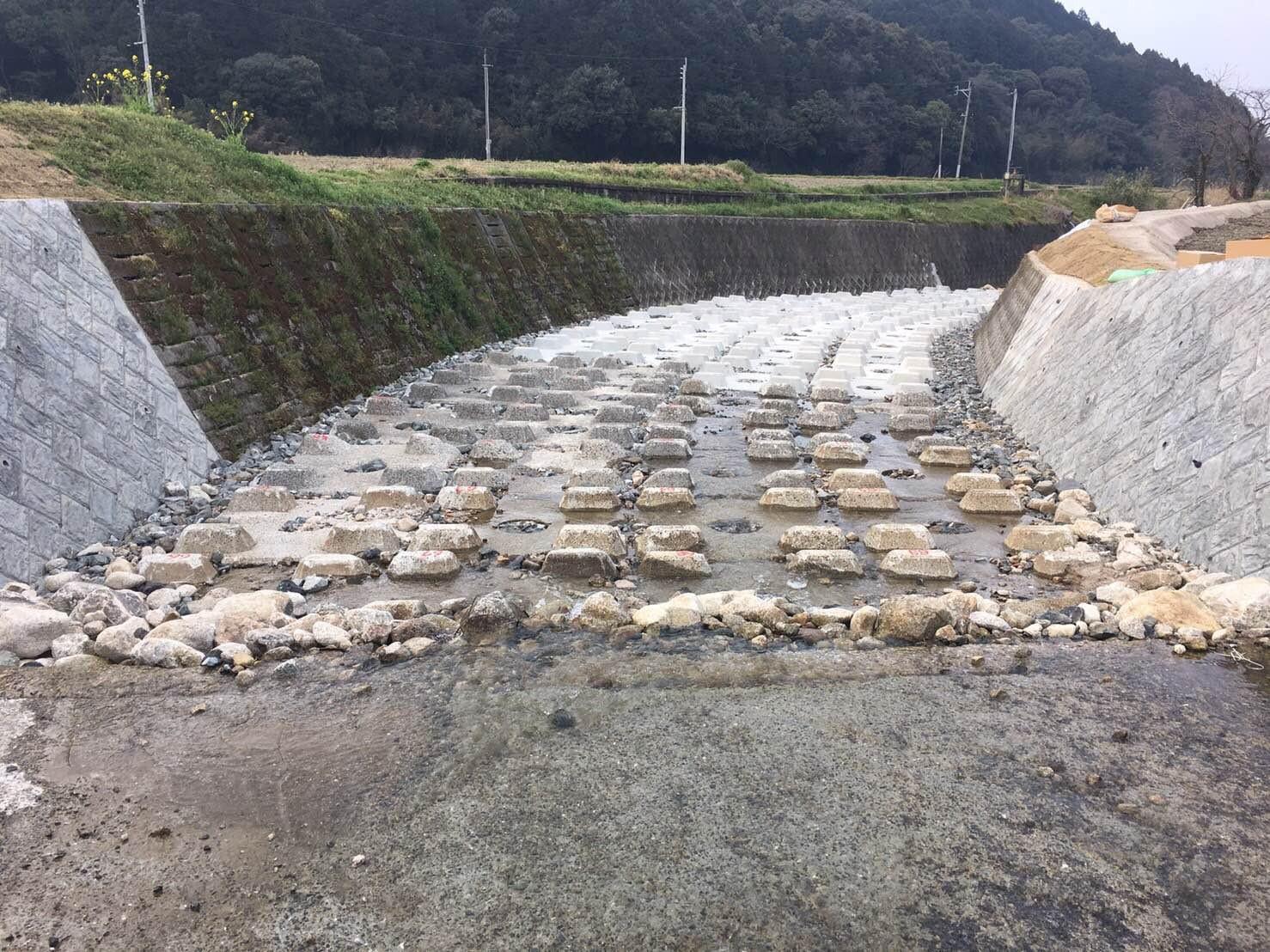馬敷川河川災害復旧工事施工前イメージ