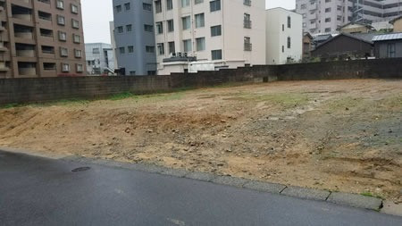 アパート解体工事の施工後イメージ