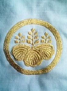 お持ち込みの祭り絆天(はんてん)にネーム刺繍