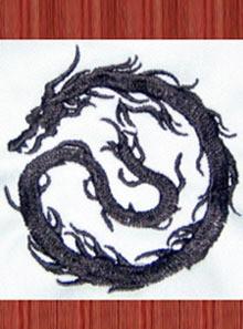 オリジナル刺繍「龍(竜)の影」刺繍