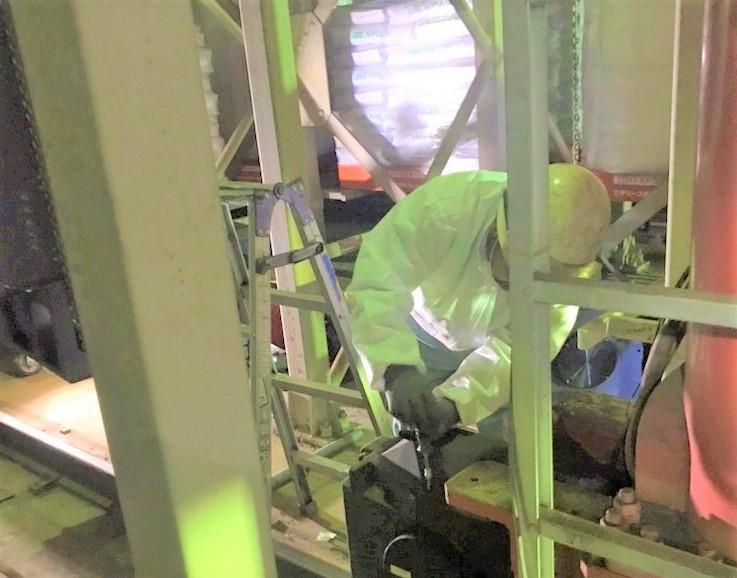 従動車輪交換・フォークリミットスイッチ交換・フォークモーター交換工事を行いました。