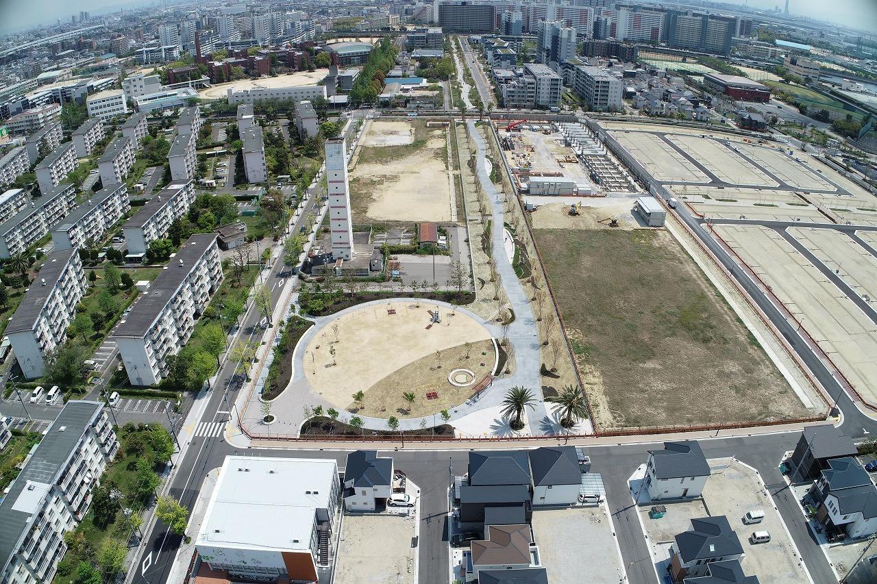 浜甲子園団地公園・緑道造園工事画像