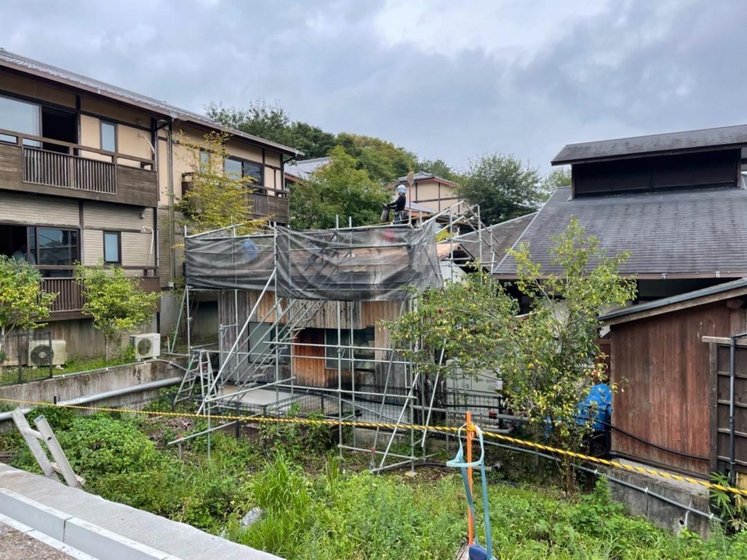 湯布院 屋根補修工事