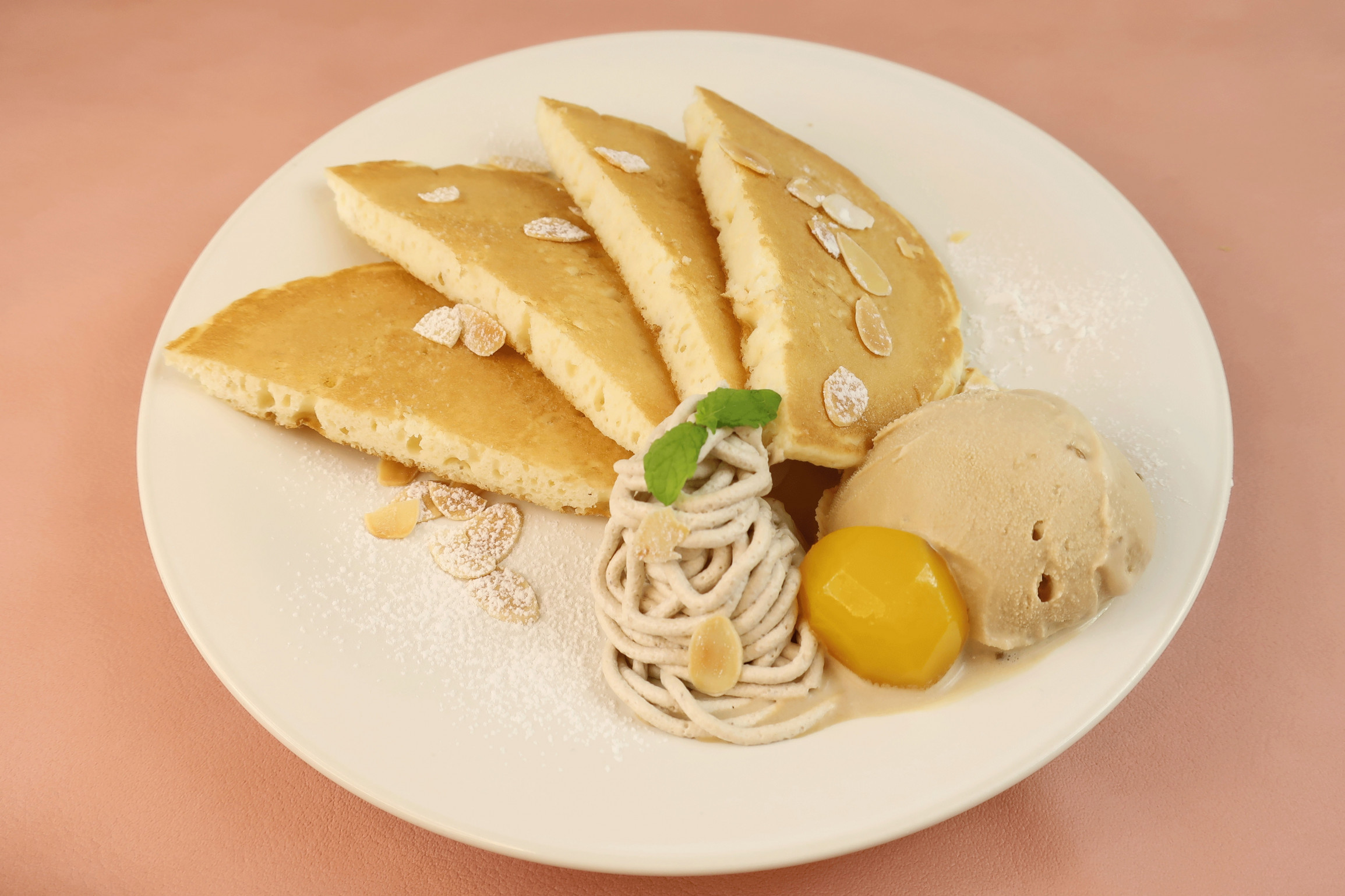 マロンづくしのパンケーキ