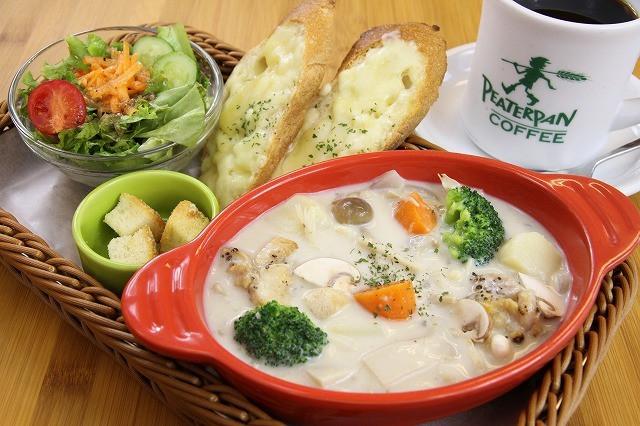 きのこ&チキンのクリーミースープ