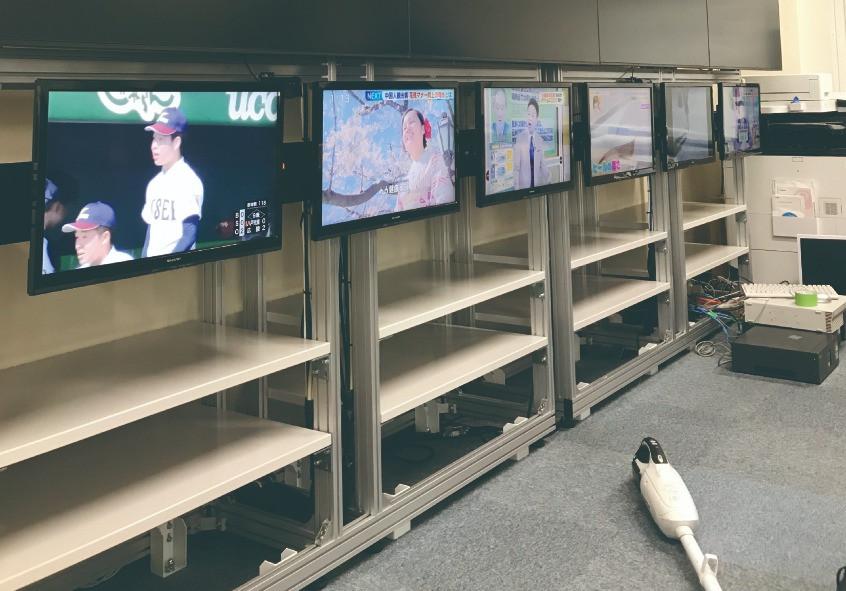 某所TV設置工事