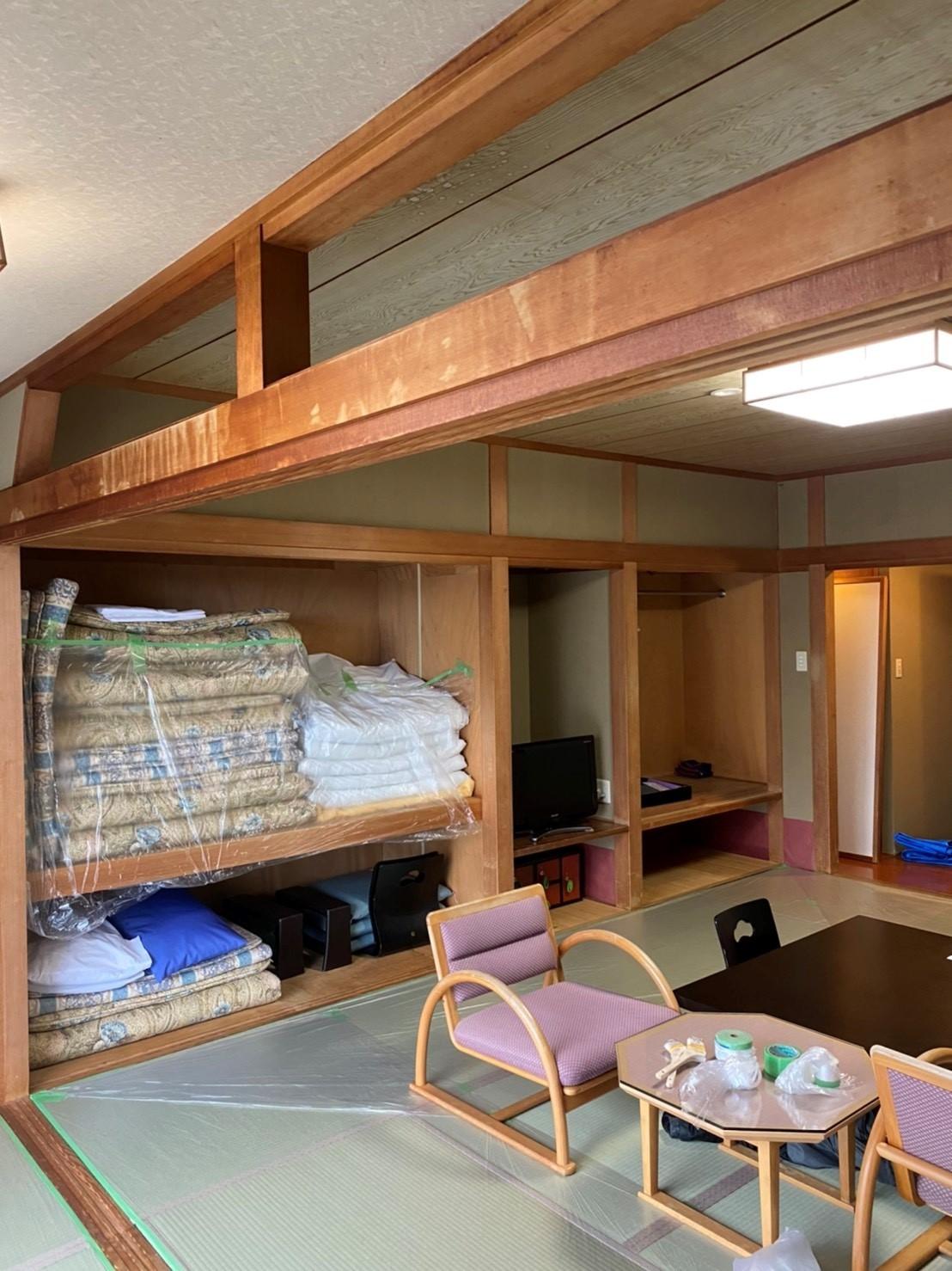 白木洗い 旅館の和室編