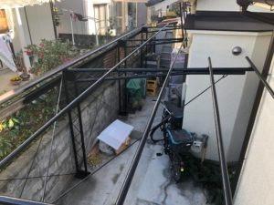 奈良市あやめ池で波板交換工事画像7