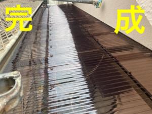 上牧町で波板張り替え工事を行いました。画像