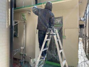 枚方市での外壁塗装の施工現場の様子画像12