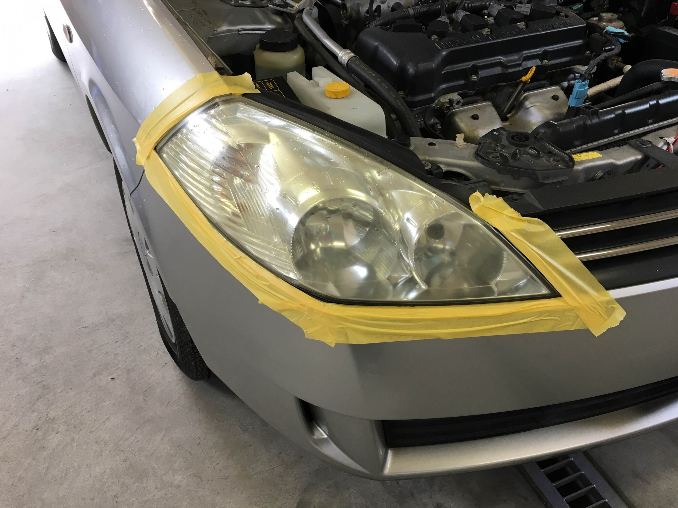 ウイングロード ヘッドライトリフレッシュ施工イメージ