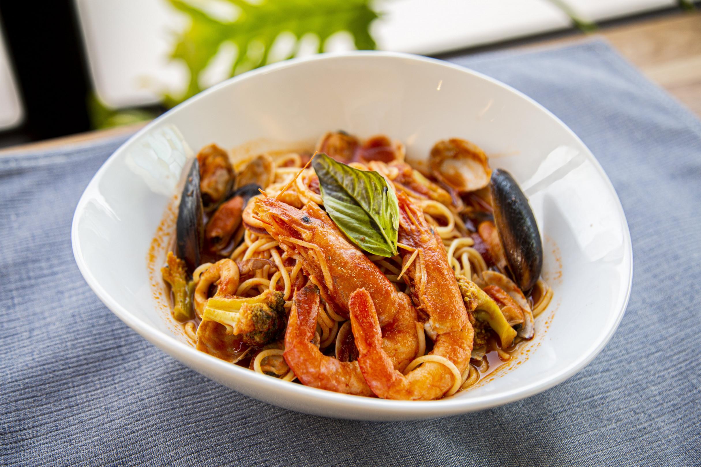 海鮮トマトスープパスタ
